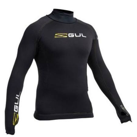 GUL Evotherm Mens Flatlock Long Sleeve Rash Guard - Keep super warm for winter