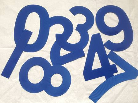 Open Skiff (BIC) Sail Numbers BLUE 230mm
