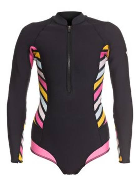 Roxy Womens 1mm Pop Surf  LS Back Zip BIKINI CUT SHORTY SPRINGSUIT WETSUIT