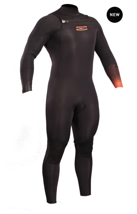 Mens 3/2mm Chest Zip B/S Wetsuit.