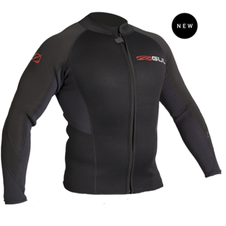 Buy GUL Response Mens 3/2mm Flatlock Zip Jacket in NZ.