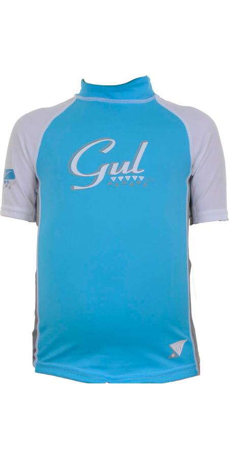 GUL Junior Girls S/Sleeve Lycra Rashguard UPF50